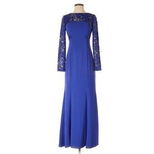 ML Monique Lhuillier Blue Cocktail Dress